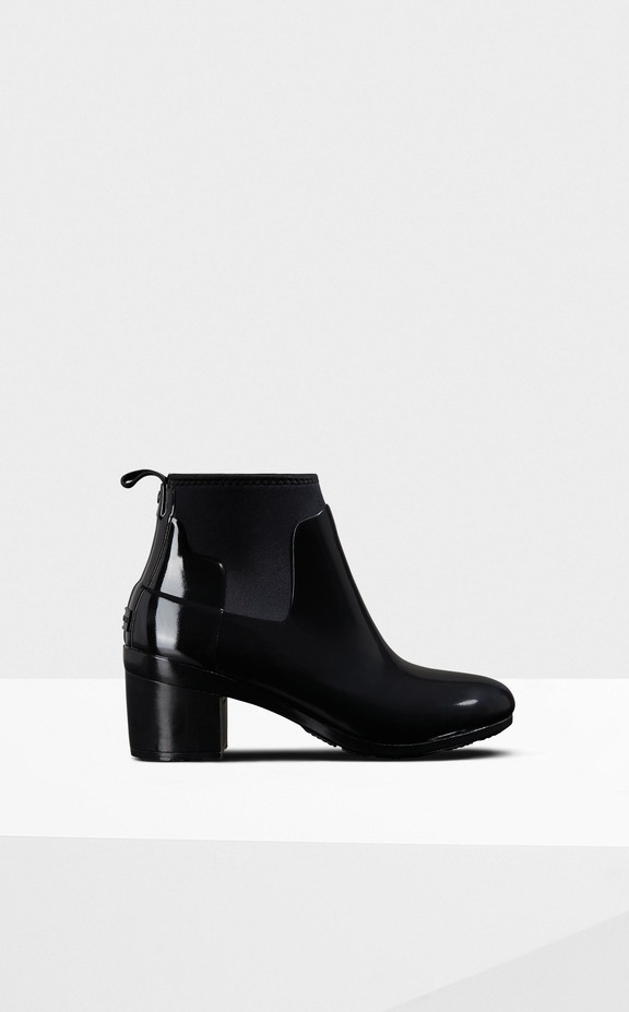 Hunter Refined Mid Heel Gloss